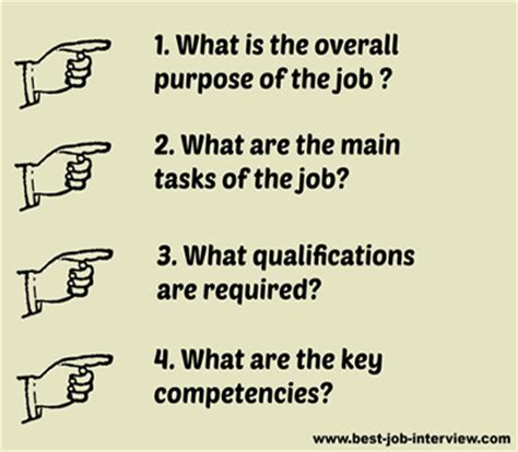 typical job interview questions and answers easy to use job description template