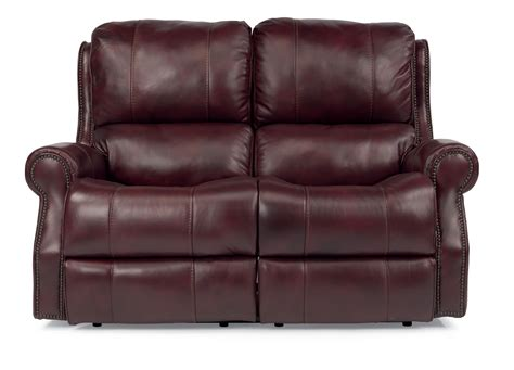 dylan power leather sofa flexsteel latitudes miles traditional power reclining
