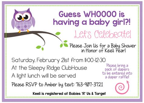 Where Can I Shower For Free by Free Printable Owl Baby Shower Invitations Other