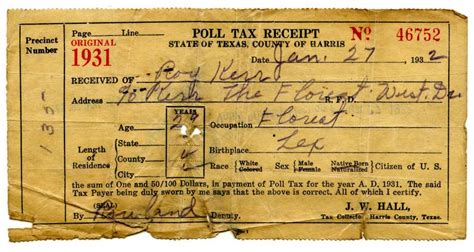 Gonzales County Tax Office by Poll Tax Receipts Provide Peek Into Electoral