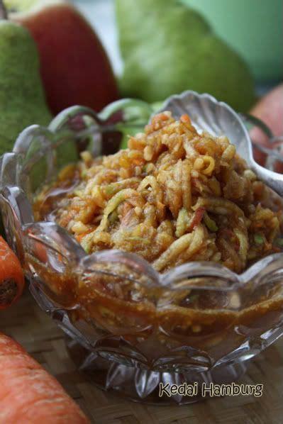 indonesian style shredded rujakrujak serut makanan