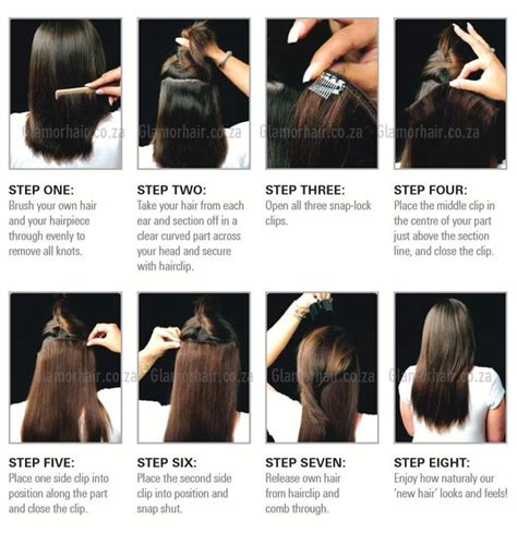 how to put in hair how to insert hair extensions glamorhair how to put in