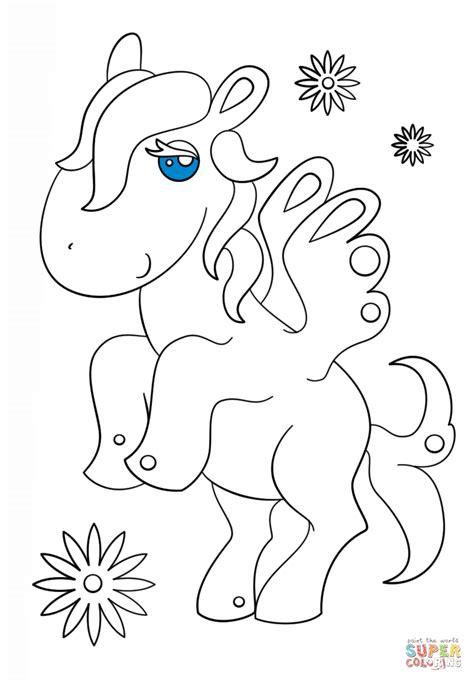 dibujos kawaii cute para colorear dibujo de pegaso kawaii para colorear dibujos para