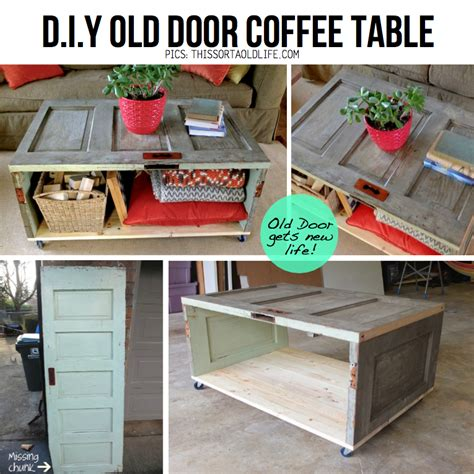 How To Make A Table In by How To Make Diy Salvaged Door Coffee Table Step By Step