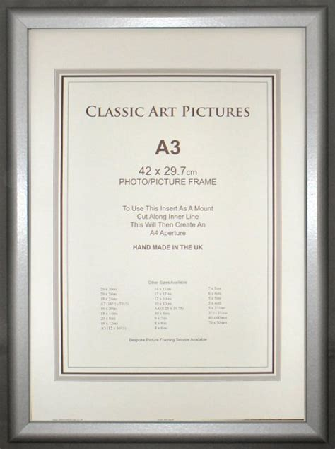 a3 picture frame for framing iso a3 size photos