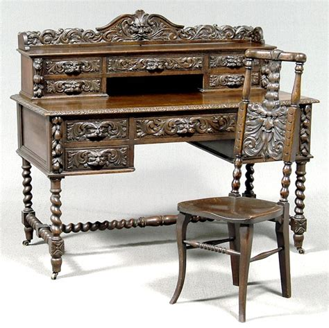 furniture suite office jacobean style oak fruit