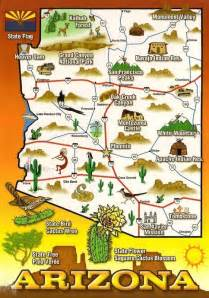 map of my home state me travel arizona by