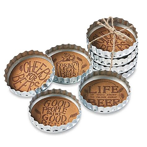bed bath and beyond coasters buy bottle cap beer coasters set of 4 from bed bath beyond