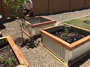 diy raised garden beds with corrugated metal