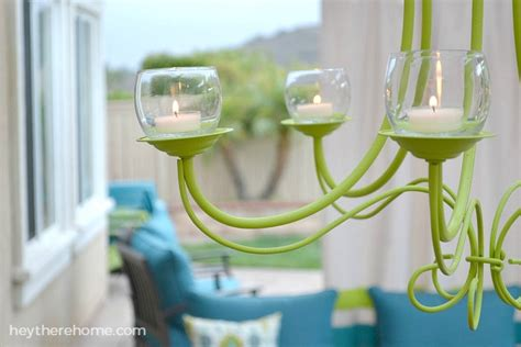 how to make a candle chandelier diy outdoor chandelier how to make a candle chandelier