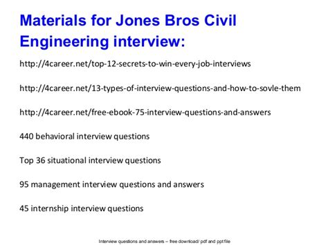 download civil engineering interview questions answers pdf jones bros civil engineering interview questions and answers