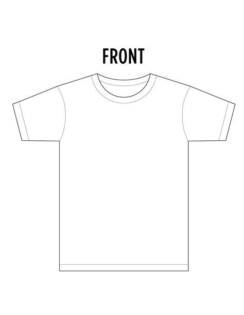 11 T Shirt Template Front And Back Images T Shirt Template Back Blank White T Shirt Template T Shirt Design Template