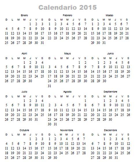 Calendario 365 Es 2014 Calendario 365 Dias 2015 Calendar Template 2016