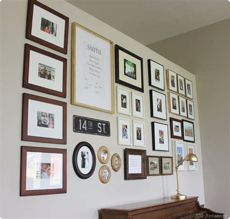family photo gallery wall gallery wall in family room 320 sycamore