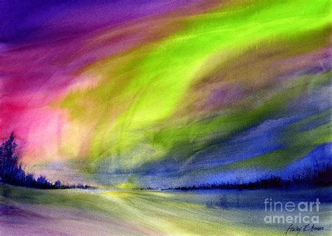northern lights painting by hailey e herrera