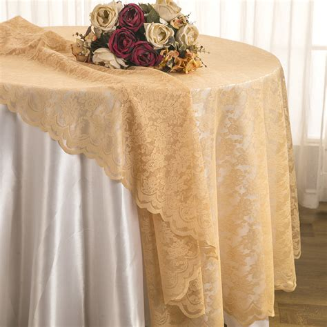 lace table overlay chagne lace table overlays linens toppers