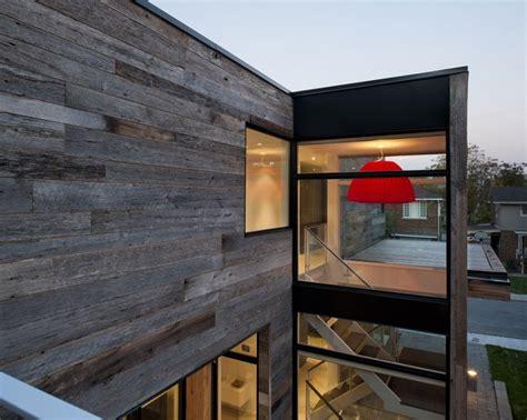 minimalist zen like barn with external cladding in ottawa