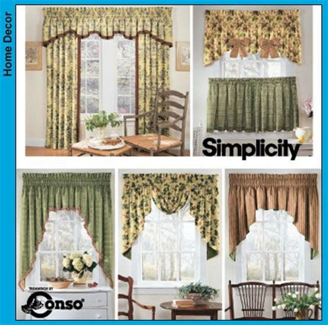 window curtain patterns free printable valance sewing patterns simplicity window