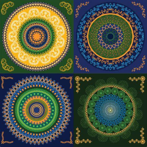 circular pattern ai set of circular floral pattern vector free vector in adobe