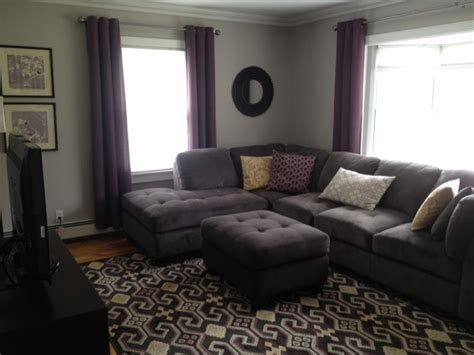 plum and grey living room 301 moved permanently