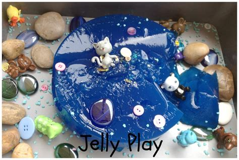 Play No More Jelly Ab922 jelly play sensory play activity made with coloured water and gelatine gooey