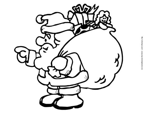 Christmas My Coloring Land Merry Santa Coloring Pages