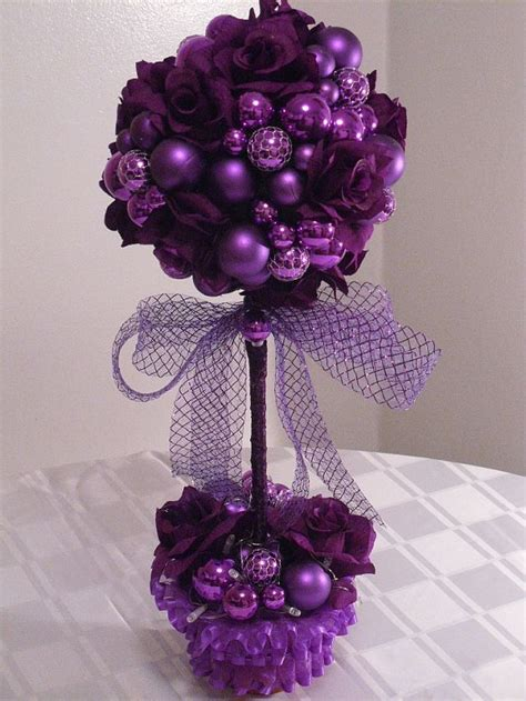 topiary tree centerpieces centerpiece purple topiary tree tabletop