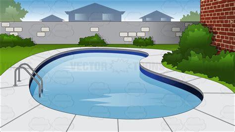 backyard cartoon backyard swimming pool background cartoon clipart vector toons