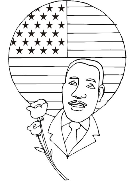 coloring page of dr king mlk coloring page free coloring home
