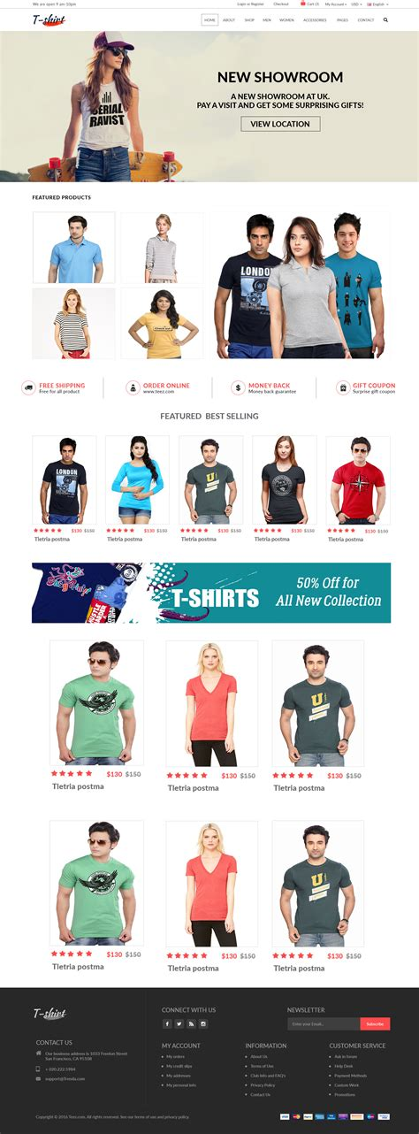 Ecommerce T Shirt Store Template Ecommerce T Shirt Website Template Ecommerce T Shirt Website Templates