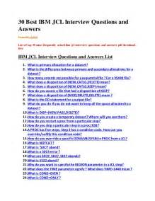 30 best ibm jcl questions and answers