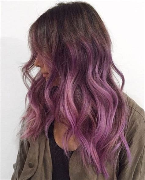 purple brown hair color purple highlights for brown and hair colors