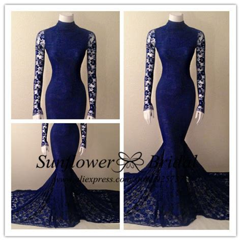 vintage 2016 navy blue lace new style sleeve lace navy blue mermaid prom