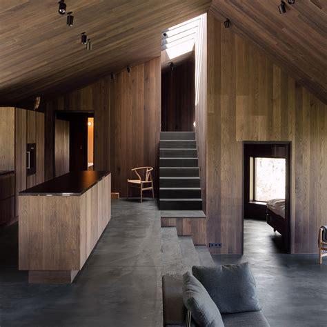 design magazine norway murmuur architecten uses engineered wood and tiles for