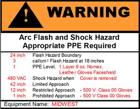 arc flash policy template arc flash warning label
