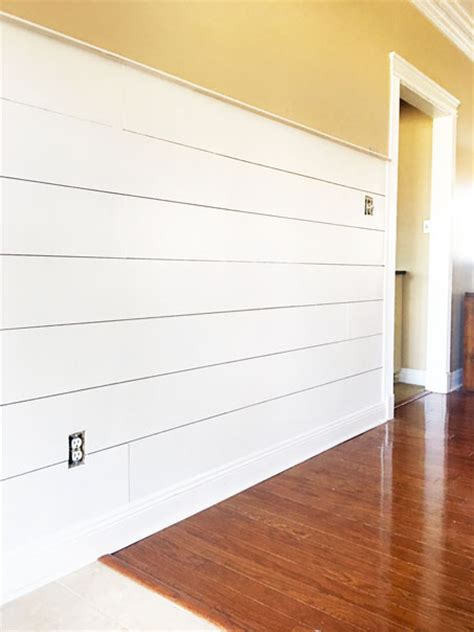 Shiplap Shelves Install Diy Shiplap The Easy Way On Southpointe Drive