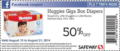 printable huggies coupons canada safeway canada save 50 on huggies giga box diapers