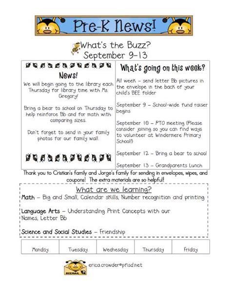 Parent Letter Preschool 25 Best Ideas About Kindergarten Newsletter On Parent Newsletter Template