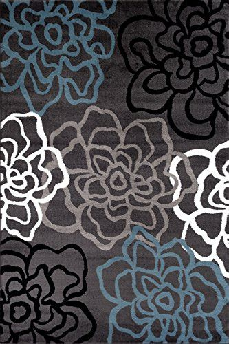 Contemporary Floral Area Rugs Rugshop Contemporary Modern Floral Flowers Area Rug 3 3 Quot X 5 3 Quot Gray Frenzystyle