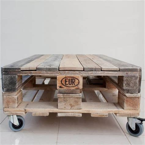 Diy Pallet Coffee Table Wheels Diy Industrial Pallet Coffee Table With Wheels Pallet Furniture Diy