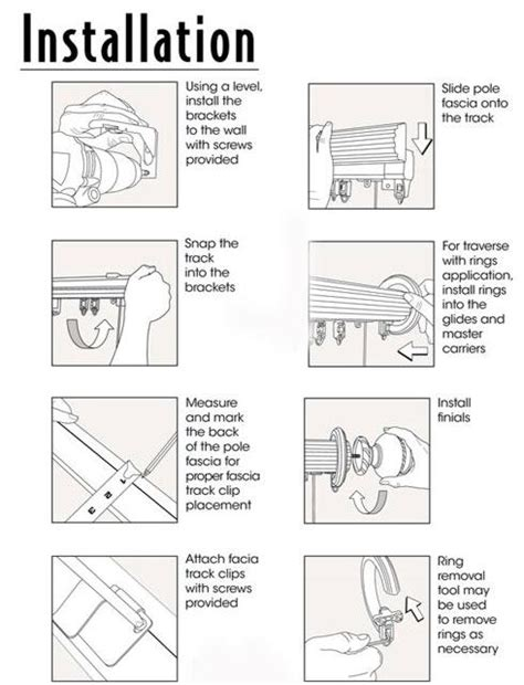 cambria curtain rod instructions somerset 2 1 4in double track system no rings fascia