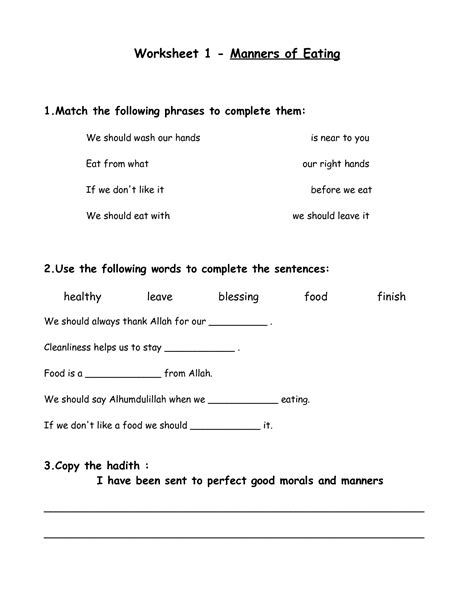 printable manners worksheets for preschoolers table manners printable worksheets worksheet 1 manners