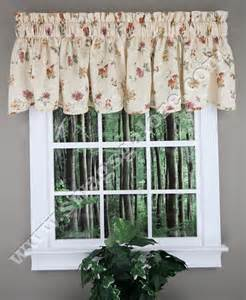 Floral Kitchen Curtains Whitfield Floral Scalloped Curtain Valance Kitchen Valances