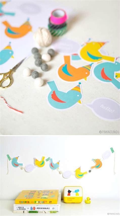 printable paper garland cute free printable paper bird garland gifts pinterest