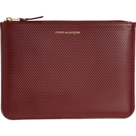 Zip Pouch comme des gar 231 ons luxury leather large zip pouch at
