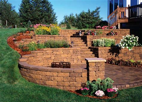 Retaining Wall Design Ideas Quiet Corner Garden Block Wall Ideas