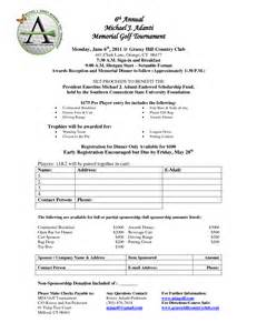 golf registration form template james pelkey heart strong