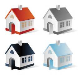 four homes 4 houses vector