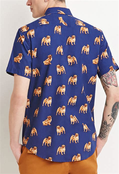 pug button up shirt pug print shirt from forever 21 saves