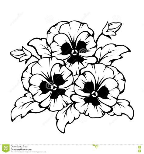 pansy flower tattoo znalezione obrazy dla zapytania pansy black and